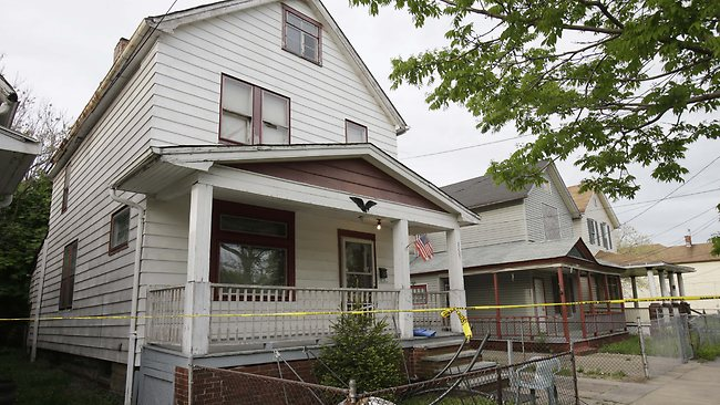 A house where three women escaped is shown Tuesday, May 7, 2013, in Cleveland.