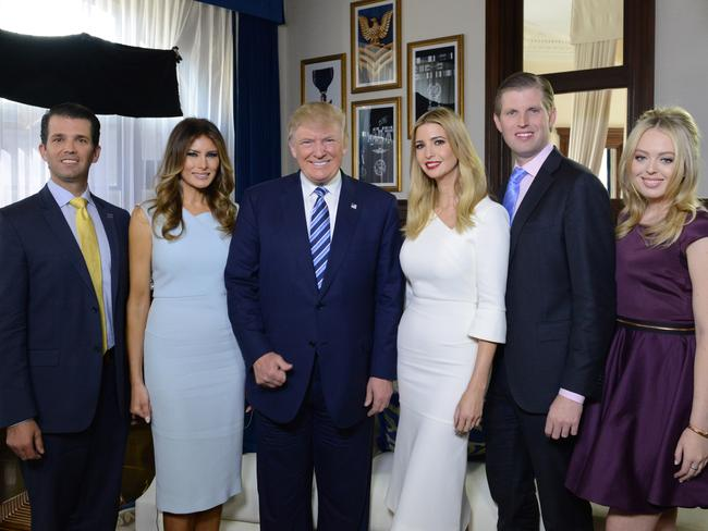 US president-elect Donald Trump and his family have been threatened with violence since he won the election. Picture: Fred Watkins/ABC via Getty Images