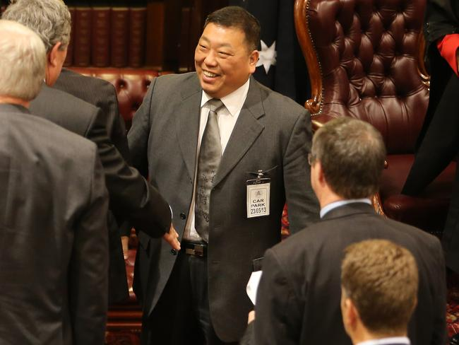 Labor MP Ernest Wong filed and signed off on financial documents for the Australian Guangdong Chamber of Commerce (AGCC) headed by two major Labor donors, including Mr Huang. Picture: Supplied.