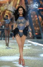 Bella Hadid walks the runway during the 2016 Victoria's Secret Fashion Show on November 30, 2016 in Paris, France. Picture: Getty