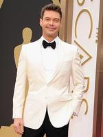 TV personality Ryan Seacreston the red carpet at the Oscars 2014. Picture: Getty