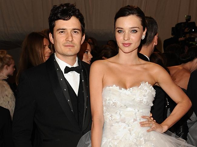 02/05/2011 WIRE: CORRECTS LAST NAME FROM OTTO TO KERR - Actor Orlando Bloom and his wife, model Miranda Kerr, arrive at the M...