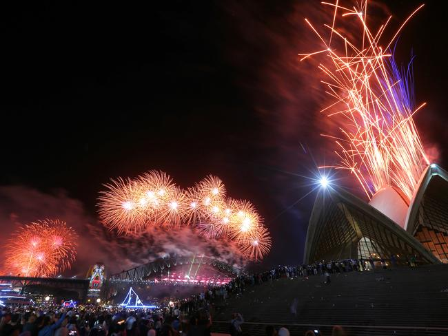 Glittery ... more than a million revellers gathered in Sydney's CBD to see the fireworks. Picture: Dylan Robinson