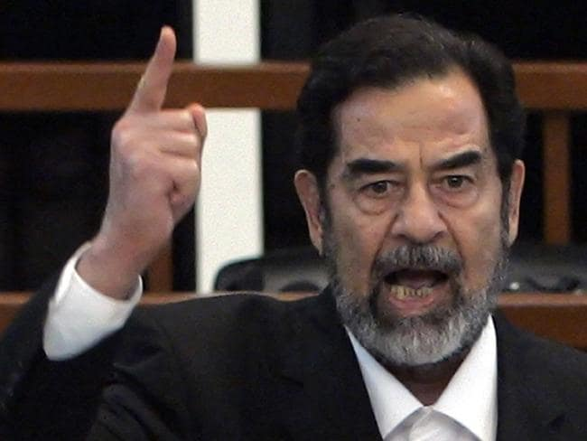 Death sentence ... Former Iraqi President Saddam Hussein yells at the court as he receives his verdict in 2006.