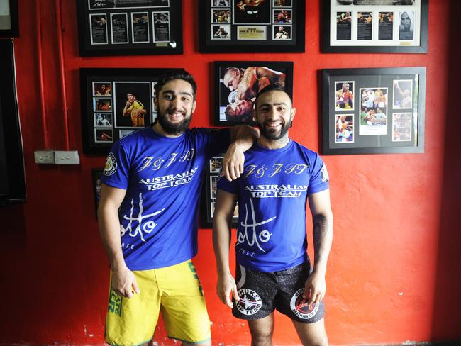 Gym owners Suman (left) and Ashkan Mokhtarian in 2014. Picture: Phillip Rogers