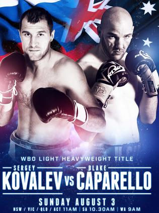 Sergey Kovalev and Blake Caparello