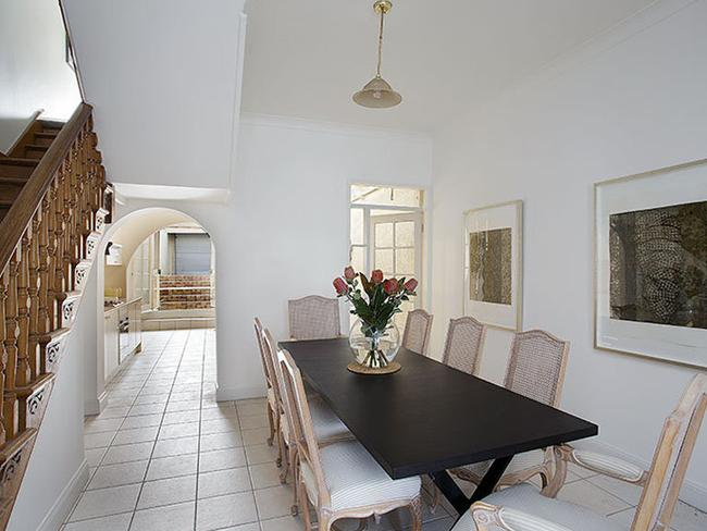 The large dining room at 54 Renny St, Paddington is a blank canvas.