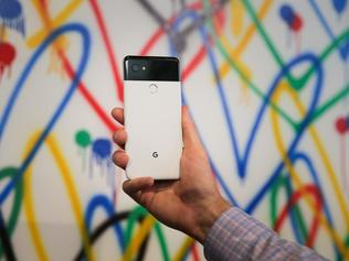 The new Google Pixel 2 XL smartphone is seen at a product launch event, October 4, 2017, at the SFJAZZ Center. Google on Wednesday unveiled newly designed versions of its Pixel smartphone, the highlight of a refreshed line of devices which are part of the tech giant's efforts to boost its presence against hardware rivals. The new Pixel 2 and larger Pixel 2 XL are the first Google-made devices since the California tech giant announced the acquisition of key segments of Taiwan-based electronics group HTC / AFP PHOTO / Elijah Nouvelage
