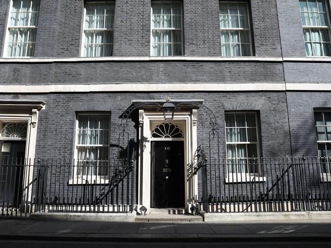 A view of 10 Downing Street prior to the announcement by Prime Minister Theresa May. Picture: Getty Images