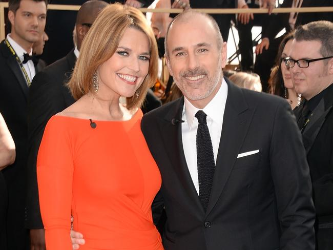 "Lauer's <i>Today</i> co-host Savannah Guthrie said she was ""devastated"" by the claims. Picture: Getty Images"
