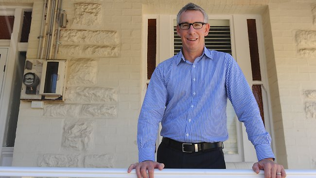 Brendon Ptolomey, Managing Director of Herron Todd White, at his North Fremantle home. Picture: Richard Polden
