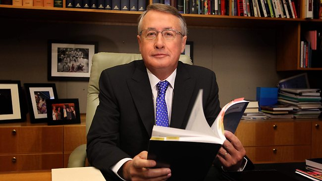 Treasurer Wayne Swan in his office on the morning of the Federal Budget at Parliament House in Canberra. Picture: Kym Smith