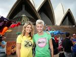 <p>Out and Proud... Ruby Rose and Natalie Bassingthwaighte at the Wear it with Pride campaign launch at the Sydney Opera House. Picture: Artlett Tim</p>