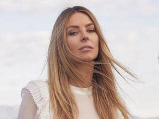 Myer Spring 2017 Ad Campaign Shoot with Jennifer Hawkins wearing Morrison. Source: supplied.