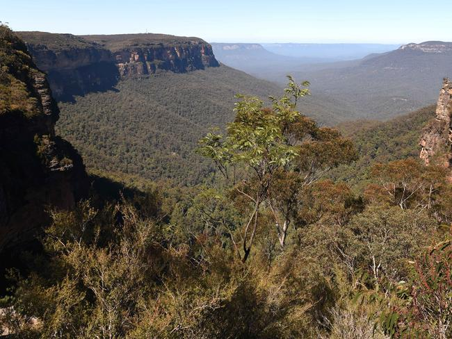 Wentworth Falls in the Blue Mountains.