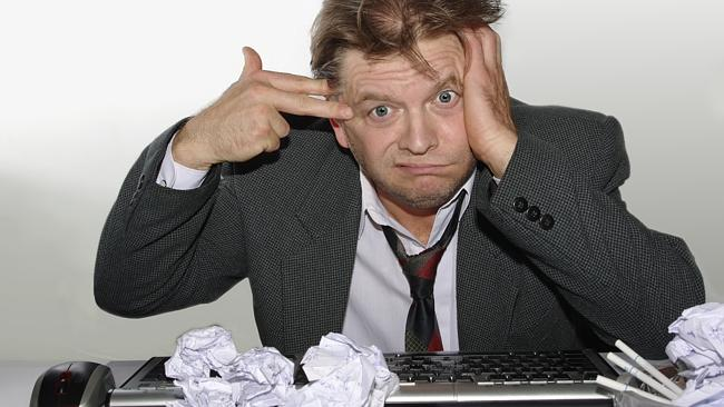 Does this look like you? Maybe you're in a work slump. Picture: Thinkstock.