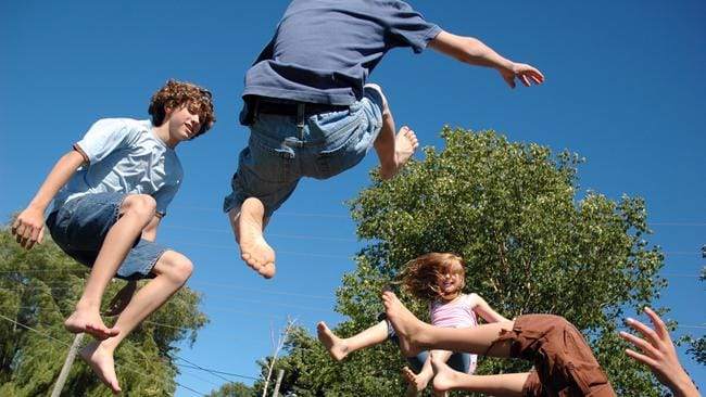 D-I-Y don't: Many parents are opting to pay someone else to build their kids' trampolines rather than pass Christmas Eve surrounded by Allen keys and angst. Picture: Supplied