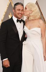 Lady Gaga and Taylor Kinney attend the 88th Annual Academy Awards on February 28, 2016 in Hollywood, California. Picture: Getty