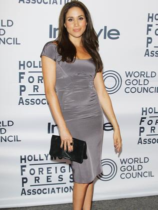 Meghan Markle at the Instyle and the Hollywood Foreign Press Association Party in 2012. Picture: Michael Tran/FilmMagic