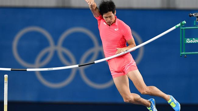 Japanese pole vaulter fails at the Olympics   but earns global fame for his  penis   Mirror Online