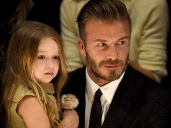 Daddy's girl ... David Beckham has frequently used his own social media account to gush about his only daughter. Picture: Getty.