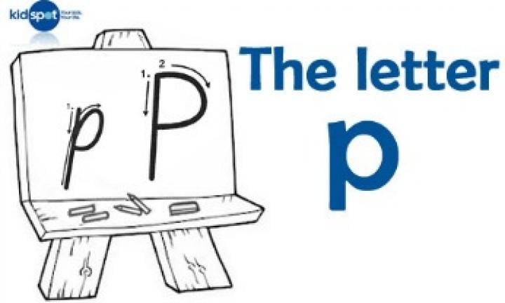 Handwriting: The letter p