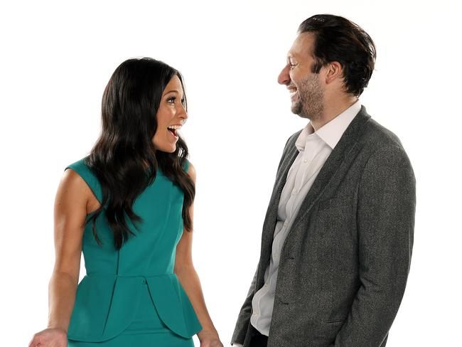 No chemistry? Mel McLaughlin and Ian Thorpe are co-hosting the Commonwealth Games on Ten.