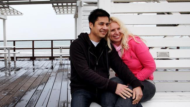 Carolyn Martinez and husband Saul. Picture: Mark Calleja
