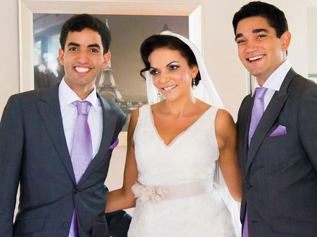 Anne's sons Adam and Karim walked her down the isle in 2013.