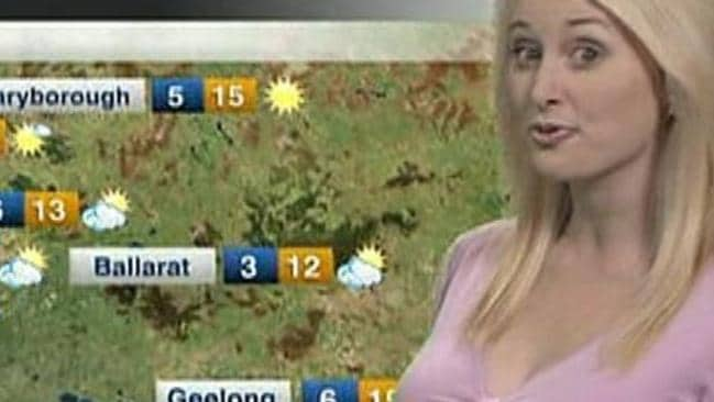 page 13  weather presenter jane bunn tones it down on