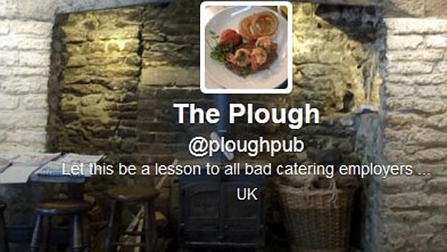The Plough's twitter profile. Picture: Twitter