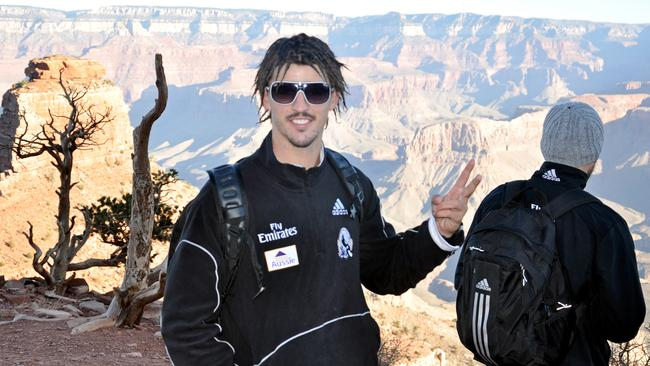 Scott Pendlebury at Collingwood's pre-season training camp in Arizona. Picture: collingwoodfc.com.au