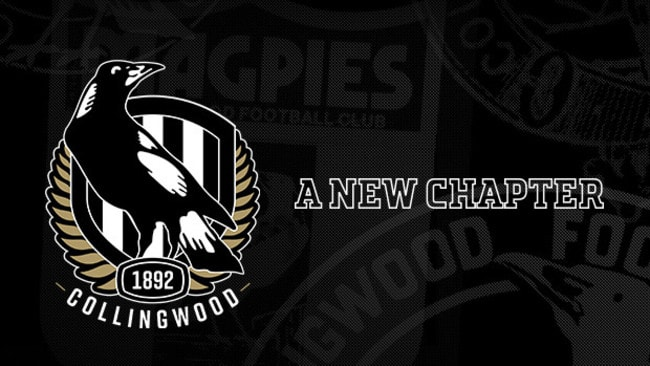 Collingwood's new logo for the 2018 season and beyond. Supplied via Collingwood.