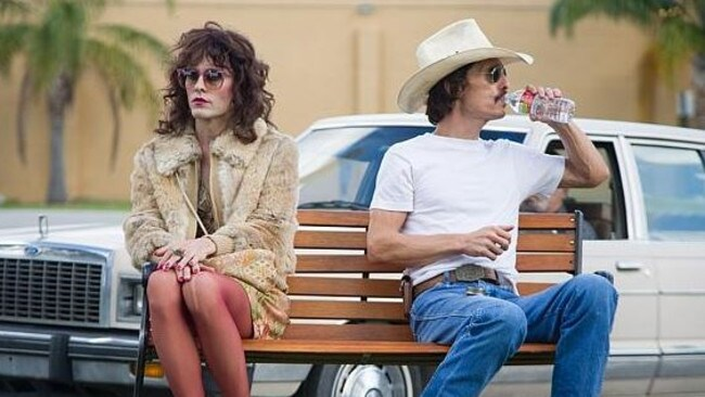 Jared Leto and Matthew McConaughey in the film Dallas Buyers Club.