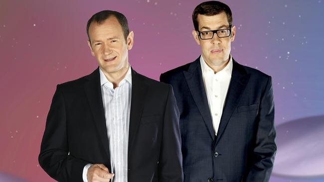 Alexander Armstrong and Richard Osman host the UK version of Pointless. Picture: Supplied.