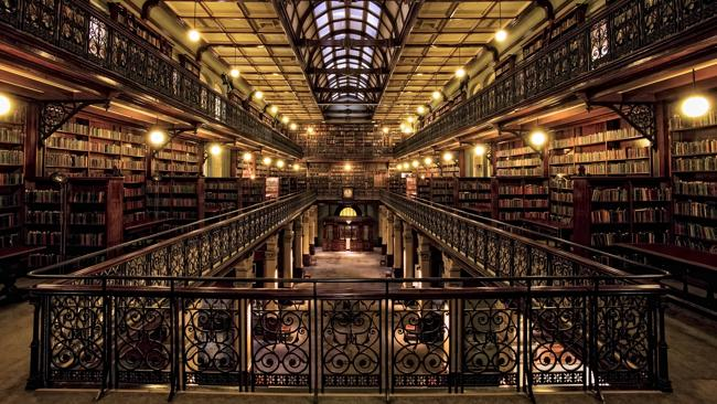 Oh the silence ... State Library of South Australia's Mortlock Chamber.