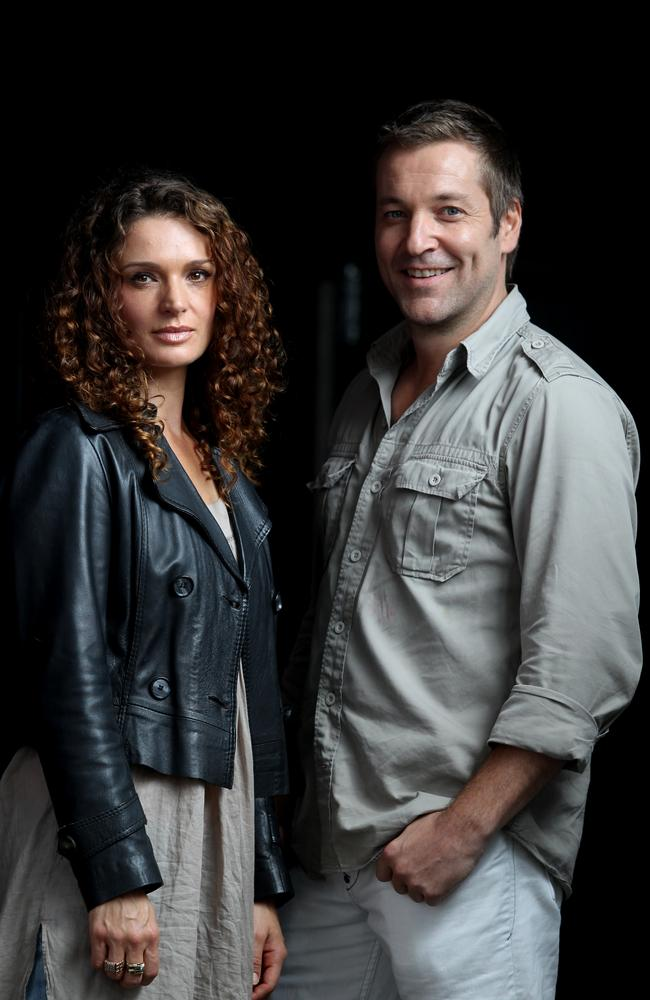 Holiday nightmare ... Danielle Cormack with Underbelly: Razor co-star and Jack Campbell.
