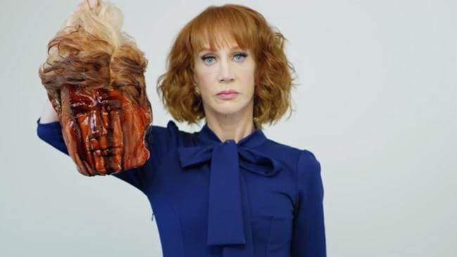 Kathy Griffin apologised after she posted a photo of President Trump's severed head. Picture: Tyler Shields