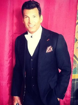 "Celebrity event planner, David Tutera, on the set of ""My Fair Wedding"". Picture: Facebook."
