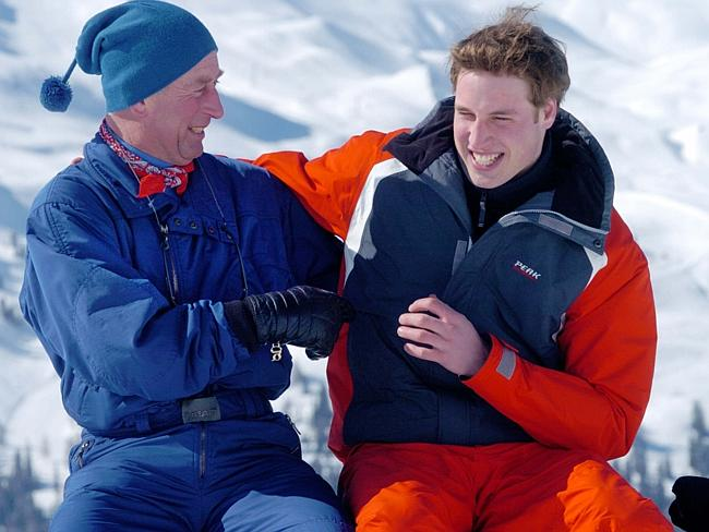 Another candid shot taken by Arthur Edwards ... of Prince Charles and Prince William in Switzerland. Picture: Arthur Edwards