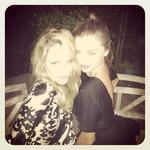 Miranda Kerr expresses her love for model and actress Monet Mazur. Picture: Instagram
