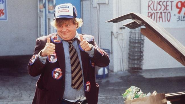 Actor, Chris Farley as the bumbling brother who means well, in the movie, Black Sheep. Picture: supplied.