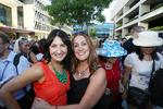 Lisa Bayne of South Brisbane and Lisa Featherstone of Manly. Pic by Sarah Keayes