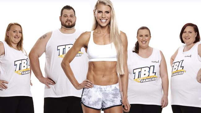 All white on the night ... Tiffiny Hall and the Hailwood family, Sam, Cliff, Kayla and Syliva have a foolproof plan for long-term weight loss.