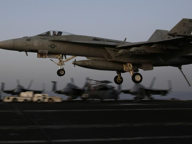 The US authorised its first air strikes on Iraq since 2011 last week. Pic: AP.