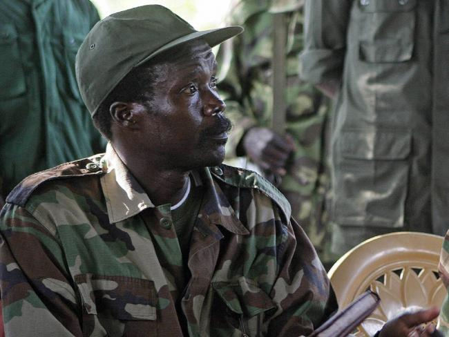 Joseph Kony, leader of the Lord's Resistance Army. Picture: AP