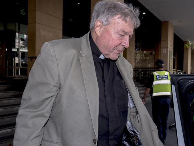 Catholic Cardinal George Pell was described as 'stern and remote' in court. Picture: Luis Ascui/AAP