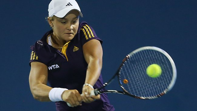Australian wildcard Ashleigh Barty was unable to overcome Mona Barthel at the Hobart International.