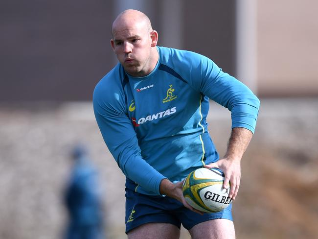 Stephen Moore has returned to the Wallabies camp but is unlikely to play Saturday.