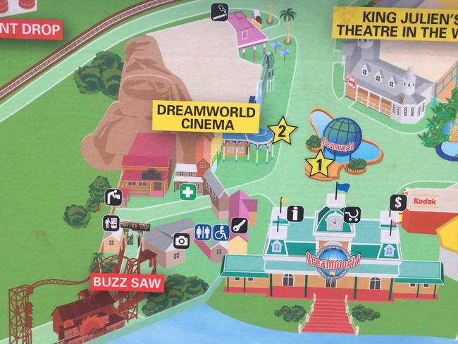 The doomed ride has been erased from Dreamworld's maps.